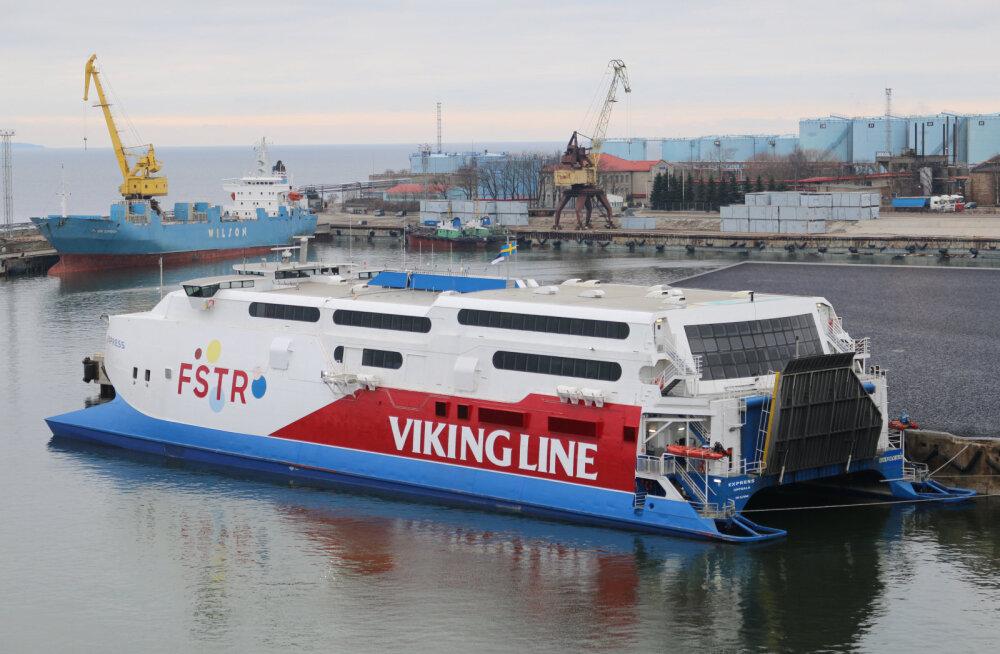 ФОТО: На линию Таллинн-Хельсинки вышел катамаран Viking Line FSTR