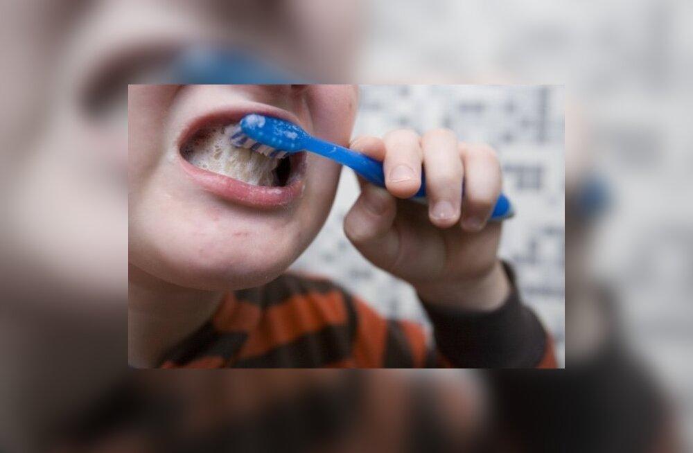 Lapsed ei oska hambaid pesta: kolmandik neist harjab vaid hammaste esikülge