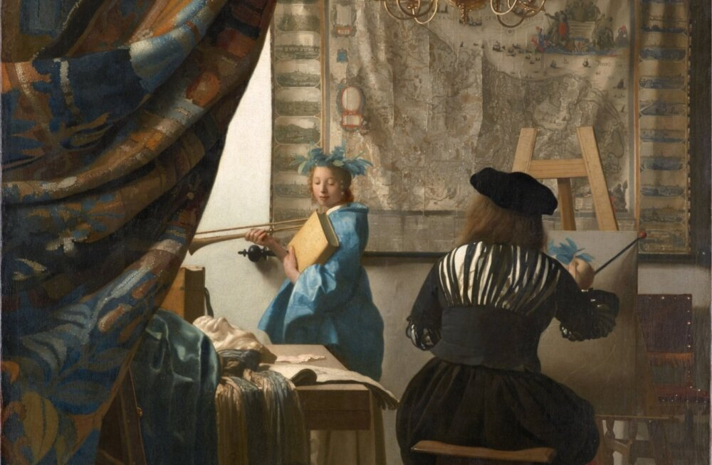 """Johannes Vermeer """"Kunstnik oma ateljees"""" (umbes 1665–1670)"""