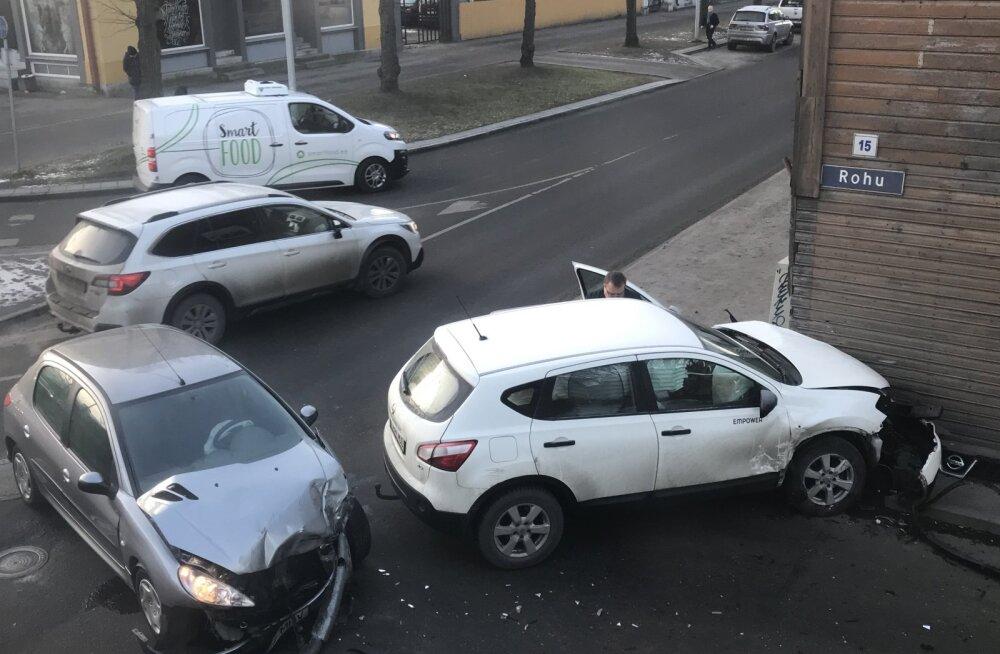 Pärast mitmeid avariisid muudetakse tänasest liikluskorraldust Rohu ja Telliskivi tänaval
