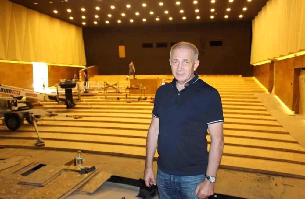 Обновленный концертный зал нарвского ЦК Geneva откроется через месяц: мест меньше, но кресла удобнее