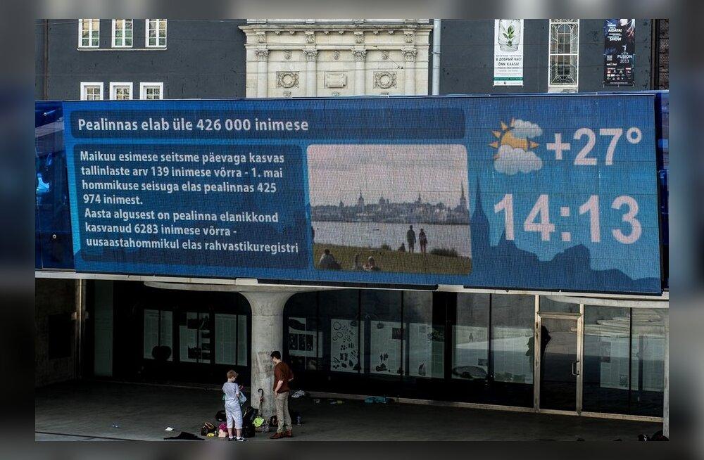 Lastejooksud Tallinnas on vabaduse väljakul