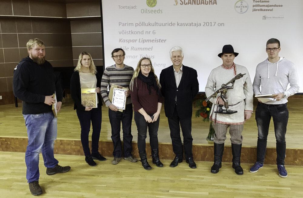 Tudengite viljelusvõistluse võitis meeskond, kes oma põldu suvel ära ei unustanud