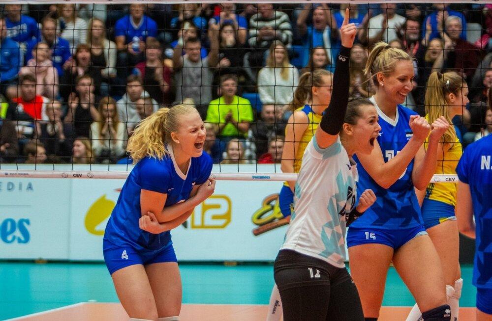 Eesti naised suutsid suure publiku ees oma mängu üles leida ja saada ülitähtsa võidu.