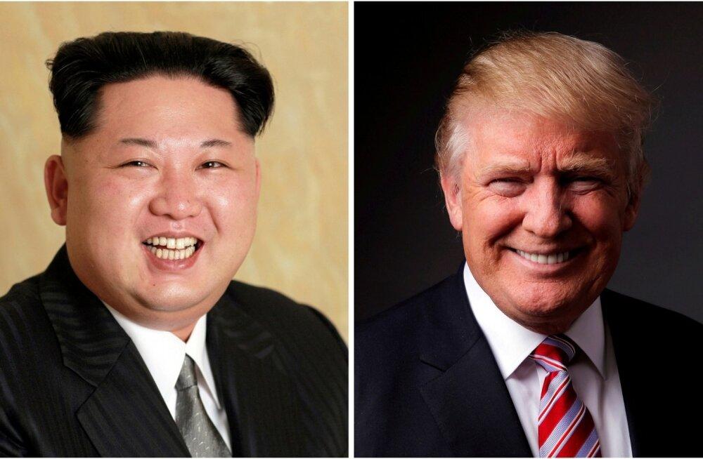 Donald Trump Kim Jong-unile: minu tuumanupp on palju suurem