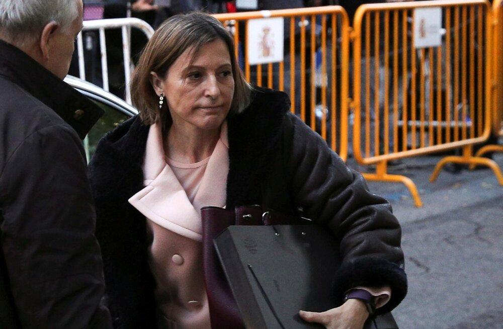 Kataloonia parlamendi spiikrile määrati vahi alt vabastamiseks kautsjon