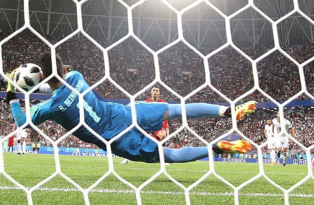 Alireza Beiranvand tõrjus Cristiano ronaldo penalti.