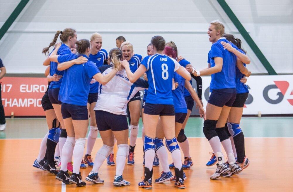 Naiste võrkpalli EM-valikmäng Eesti - Rootsi