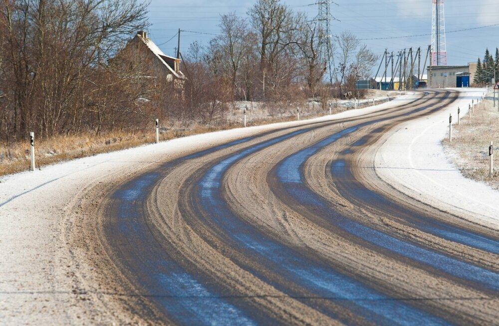 Paiguti sajab lund, teedel on libeduse ohtu