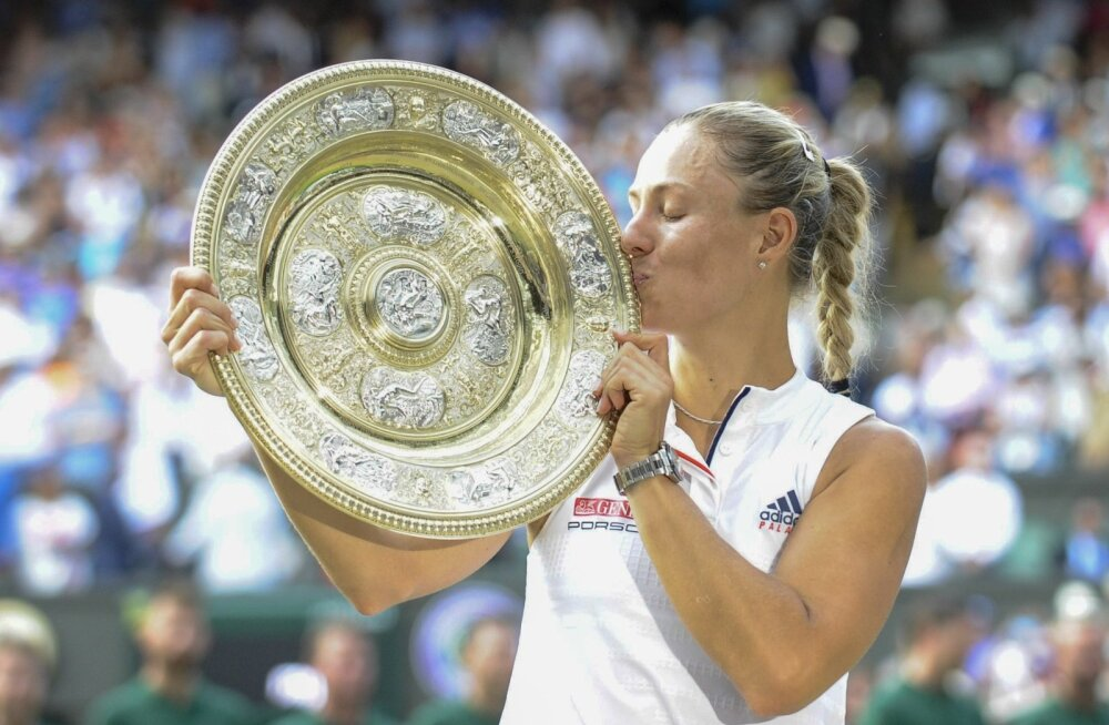 Angelique Gerber mängis elu tennist ja saab vaevatasuks suudelda Wimbledoni võitjakandikut.