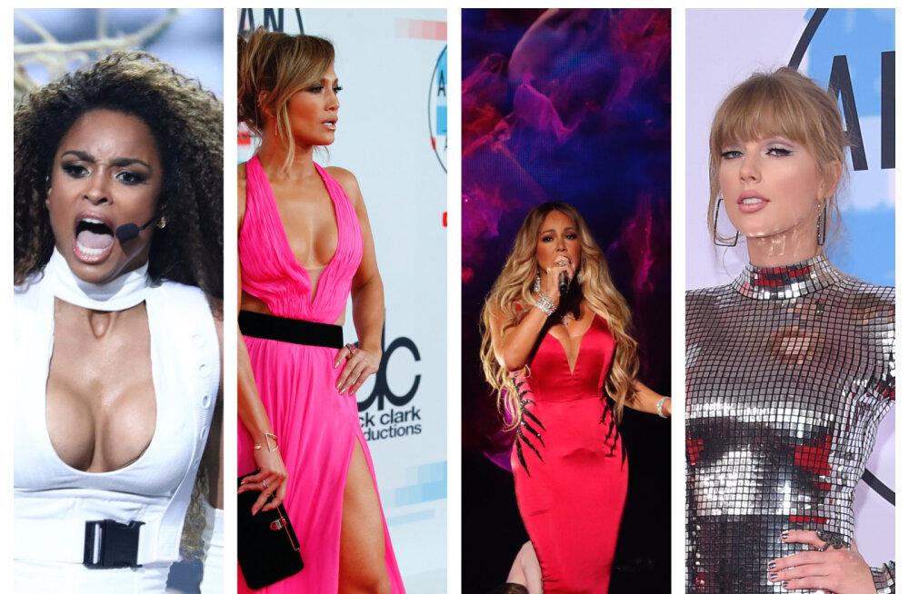 Glamuursed FOTOD | Ameerika muusikaauhinnad 2018: vaata, kes olid kohal ja mida nad kandsid