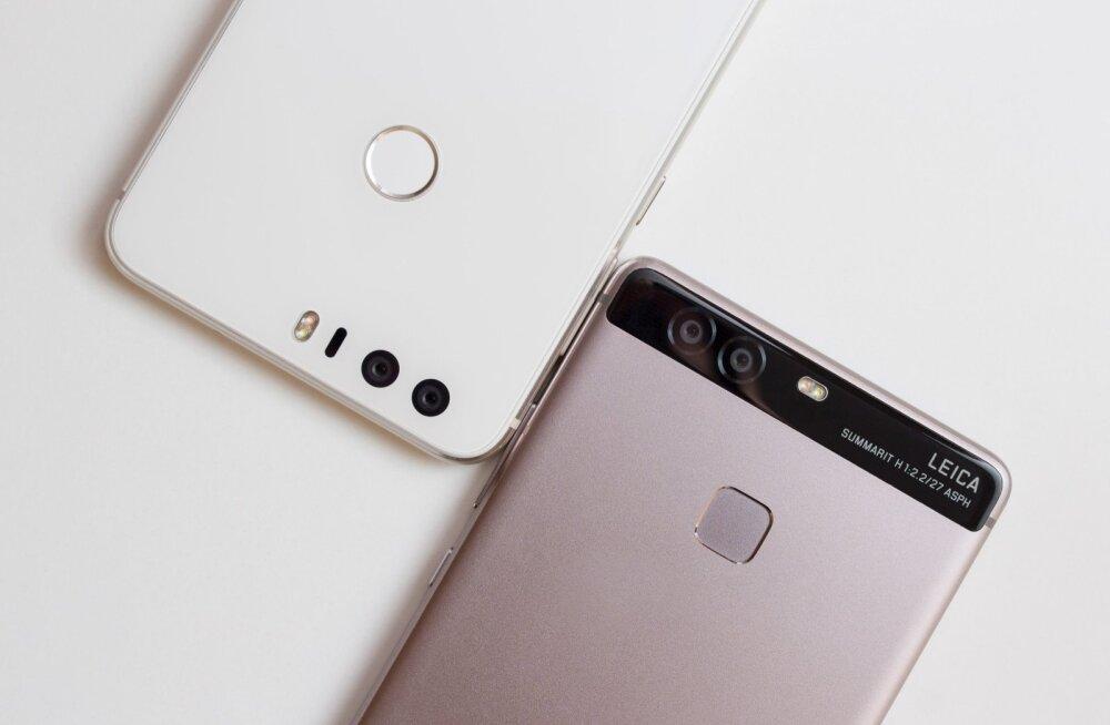 Honor 8 (vasakul) ja Huawei P9