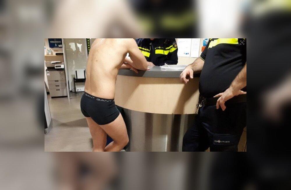 Полиция Голландии помогла потерявшему одежду и память эстонцу, который приехал на местный музыкальный фестиваль
