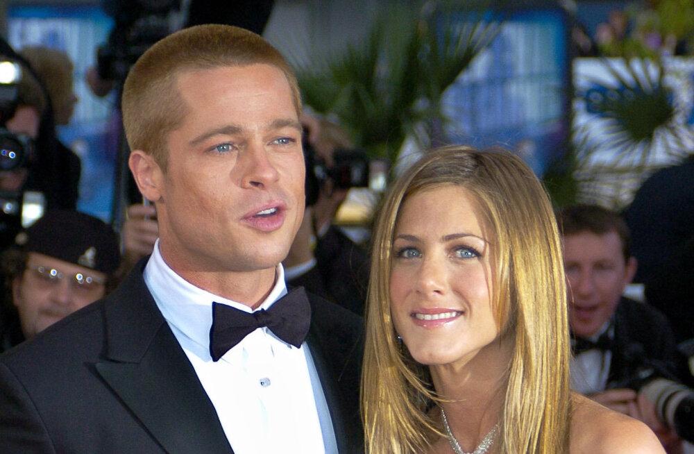 """VIDEO   Lihtsalt """"Sõbrad"""" või midagi enamat? Brad Pitt väisas eksnaise Jennifer Anistoni 50. juubelit"""