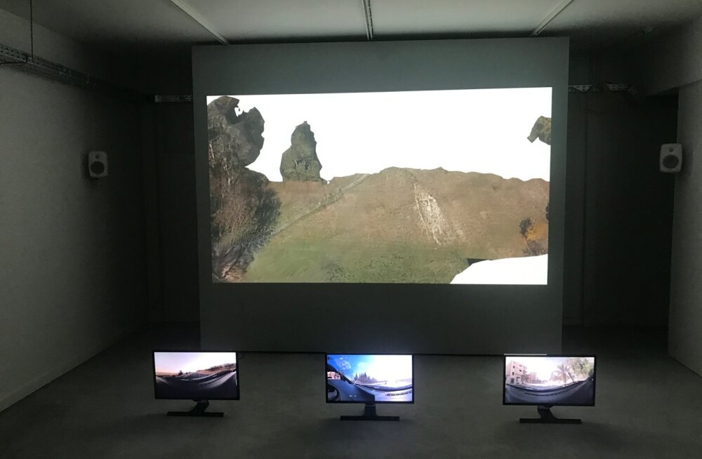 """Ivar Veermäe installatsioon """"Replica"""" (fotol osaliselt) esitab väljakutse nii tehnoloogiale kui ka inimlikkusele."""