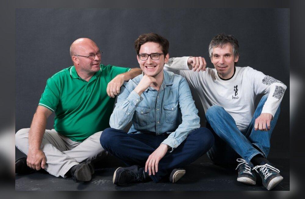 Kalevipoeg pilteeposena. Vasakult: Raoul Annion, Toom Tragel, Marek Laimets