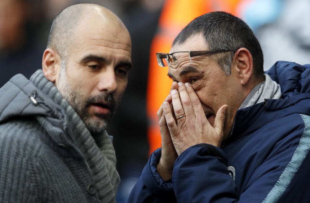 Pep Guardiola ja Maurizio Sarri