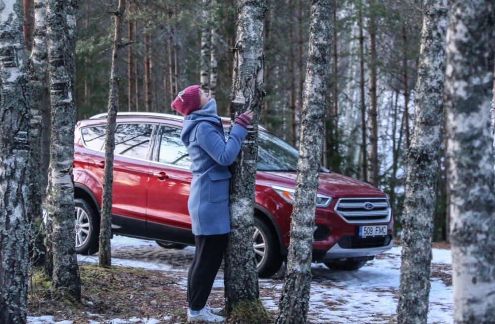 Ford Kuga: ei takista hanged, ei takista kraav, kui roolis on julge daam (või ka taat)