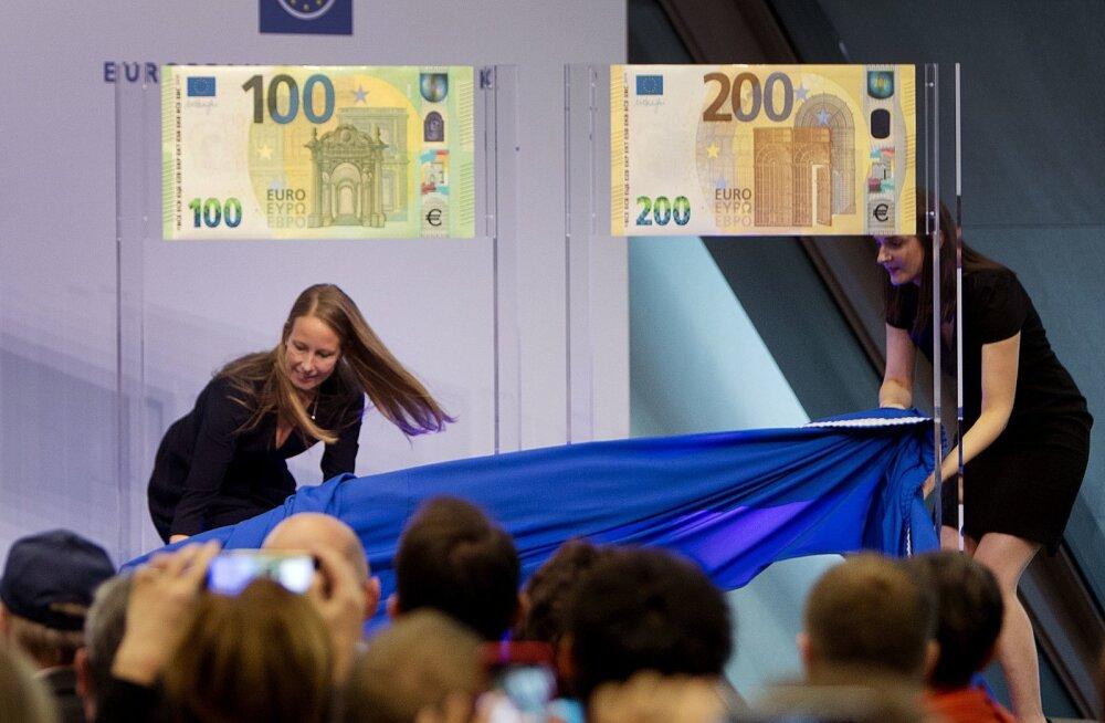Европейский центральный банк представил новые банкноты в 100 и 200 евро