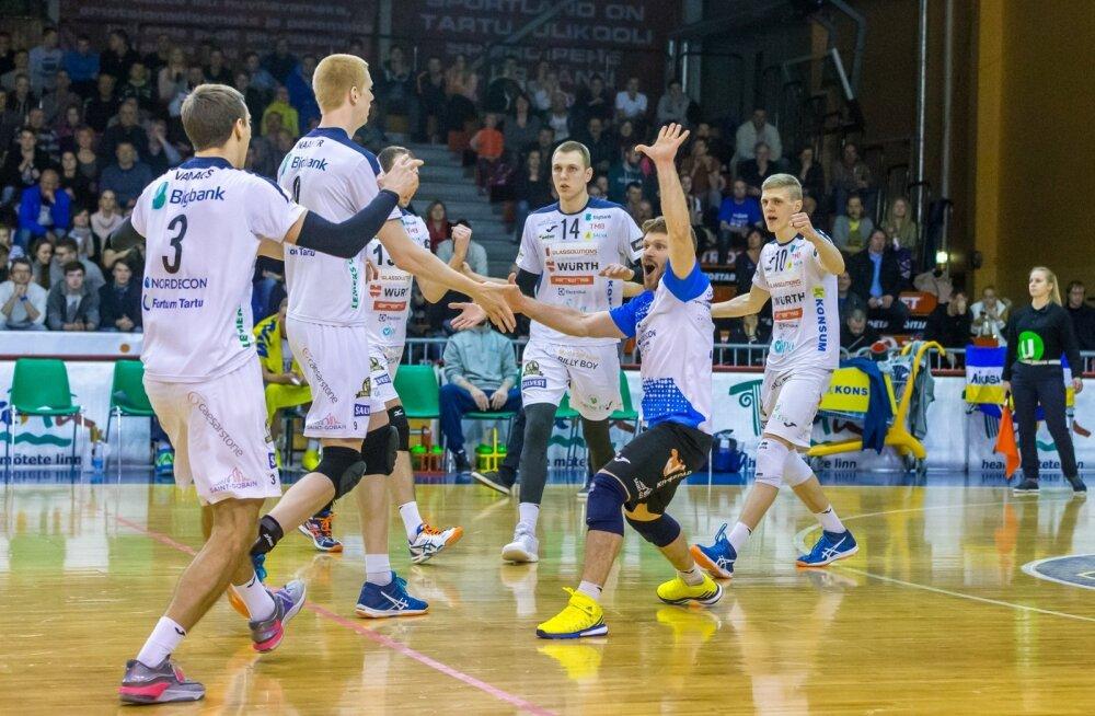 Tartu Bigbank võitis poolfinaalis Rakveret mängudega 3 : 2 ja hakkab võitlema kulla eest.