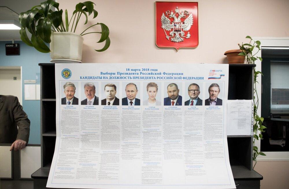 Vene presidendi valimised Narvas.