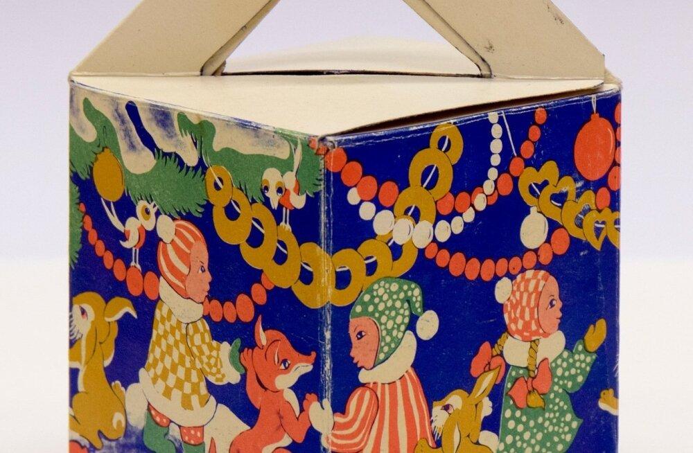 ИНТЕРАКТИВНЫЙ ГРАФИК: Смотрите, как менялся дизайн упаковки эстонских рождественских сладостей!