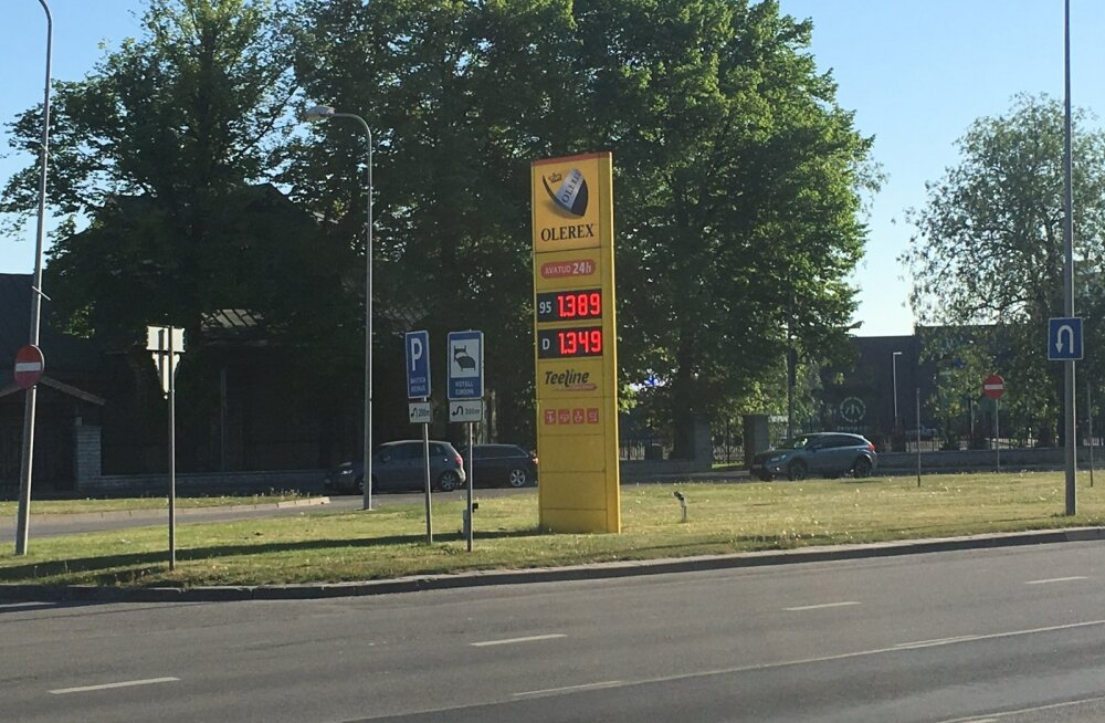 Kütuse hind Olerexi tanklas täna hommikul.