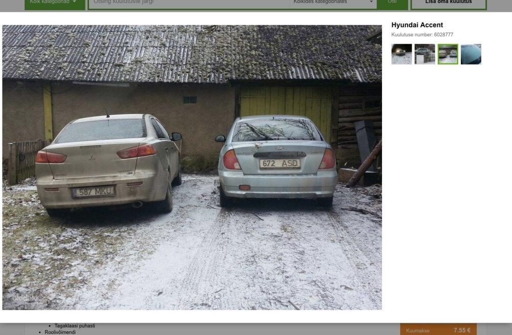 Kalvi-Kalle driftiauto müügis