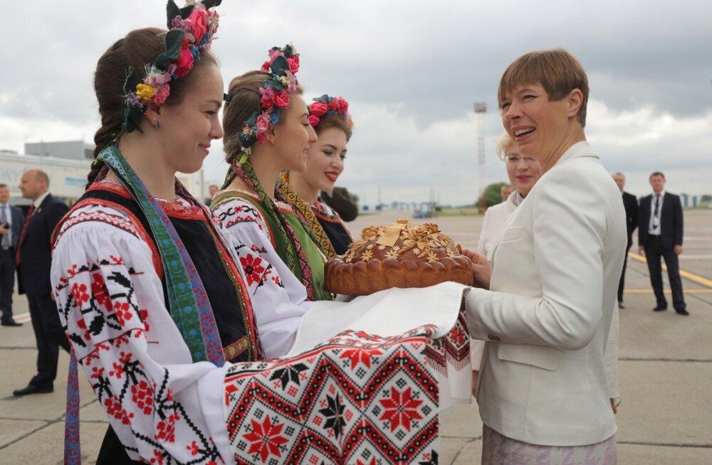 Kersti Kaljulaid, Ukraina, Kiiev, saabumine