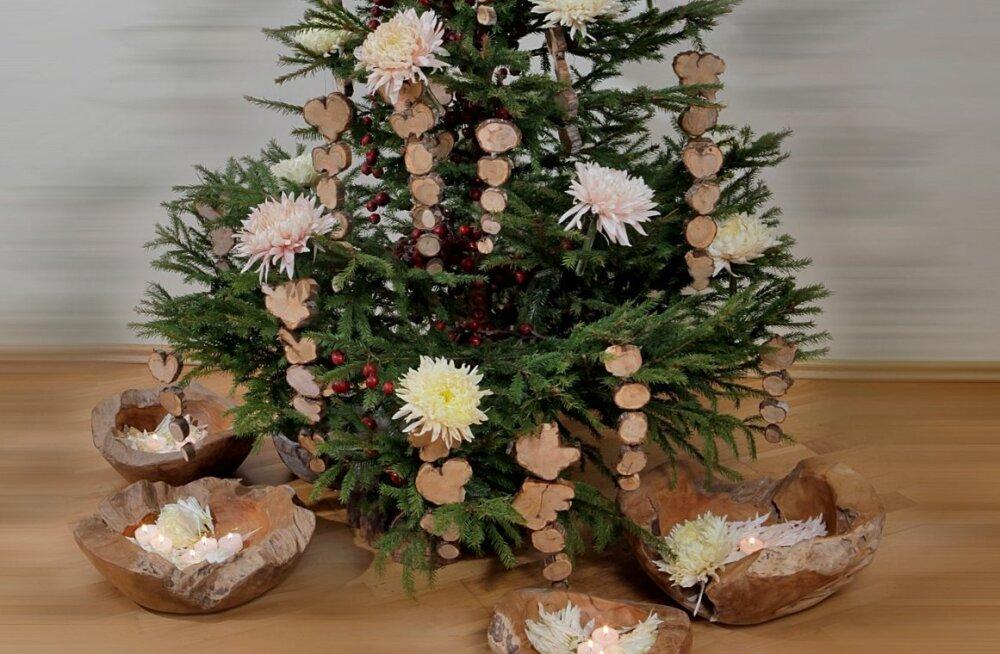 Maakodu, jõulud, lilleseaded