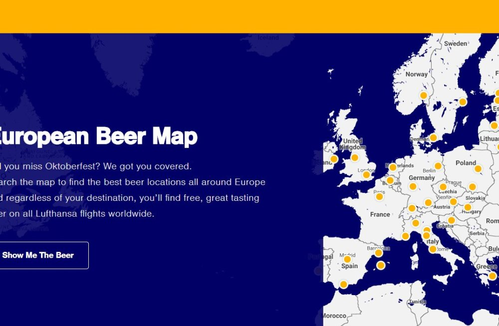 Lufthansa создала пивную карту Европы