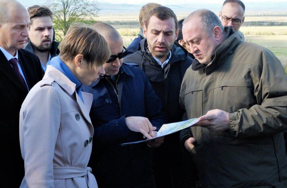 Kaljulaid Gruusias: president läks visiidi viimasel päeval Vene okupatsioonijoonele