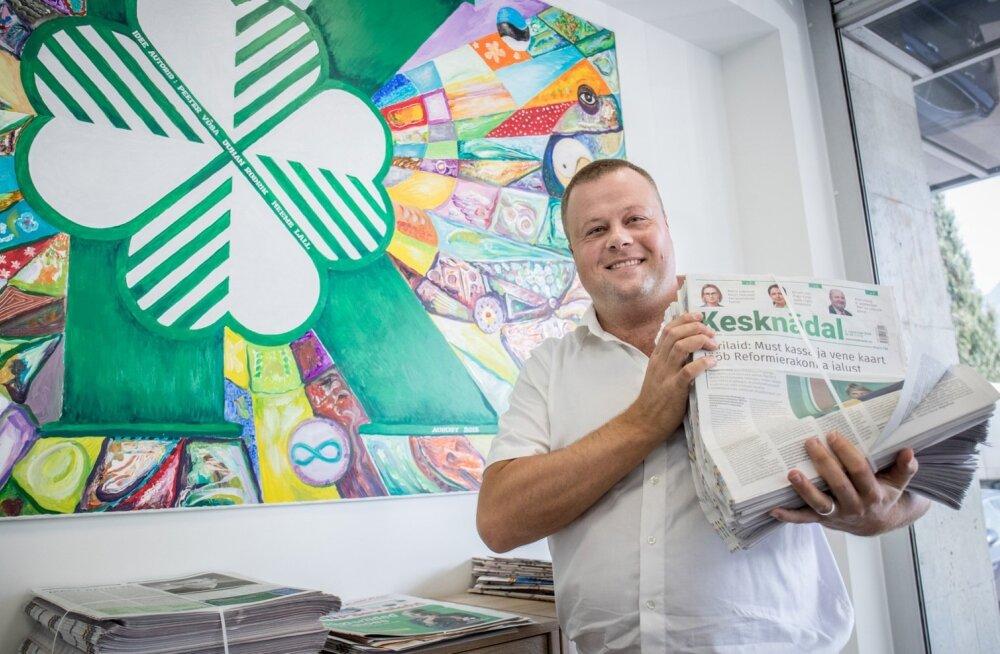 Kesknädala peatoimetaja Indrek Veiserik (fotol) ütles, et kui viimase Kesknädala esiküljel oli intervjuu Jaanus Karilaiuga, tellis poliitik kohe 400 lehte inimestele jagamiseks.