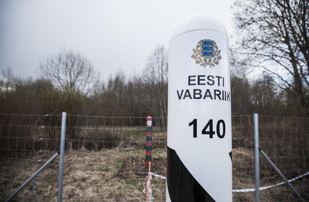 President Eesti-Vene piiril patrullimas