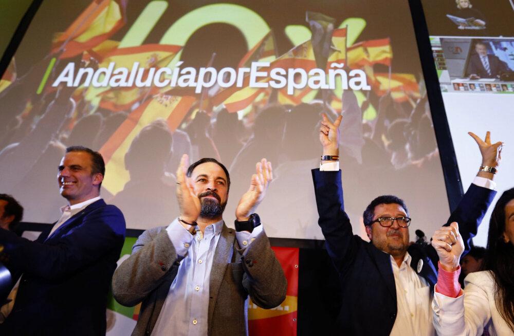 Hispaania valimistel saatis diktaator Franco surma järel esimest korda edu äärmuslikku parempoolset erakonda