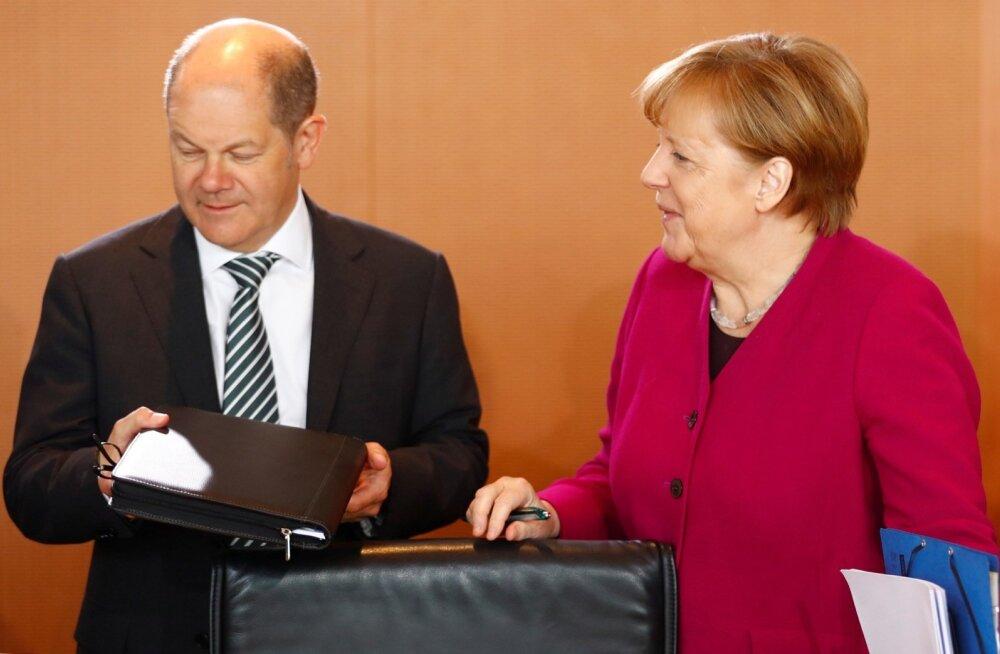 Scholz ja Merkel