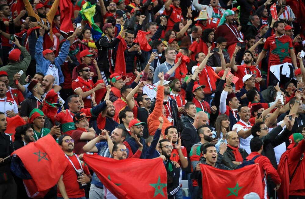 Maroko jalgpallikoondise fännid MM-il.