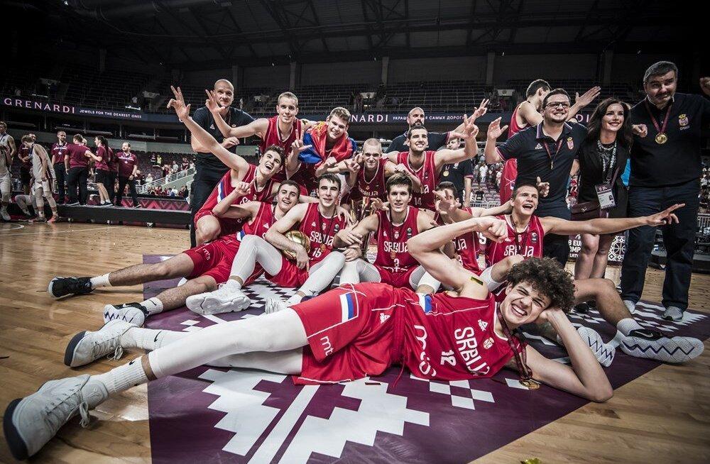 VIDEO   Serbia U18 korvpallikoondis tuli taas Euroopa meistriks