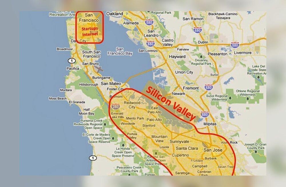 Ka Silicon Valley mädaneb peast ehk sealt, kus on peidus kõige rohkem raha