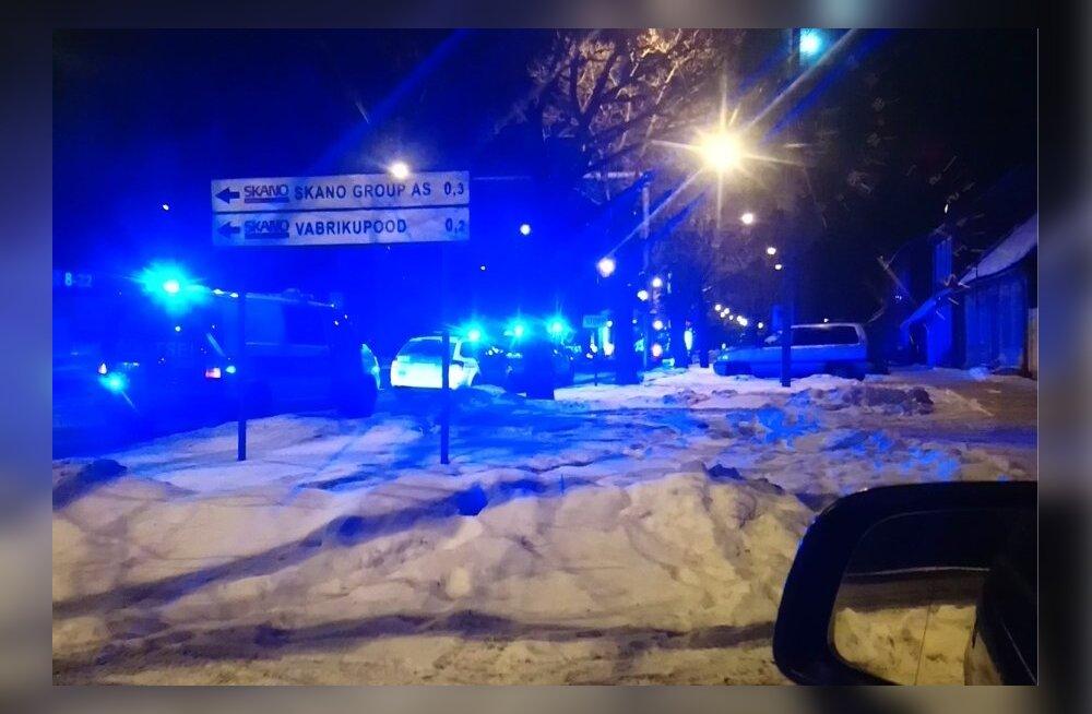 Tulekahju Pärnus Riia maanteel