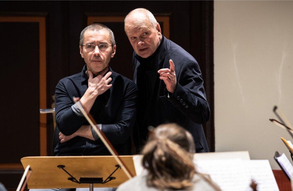 Sven Grünberg (paremal) ja Jan-Eik Tulve proovis.