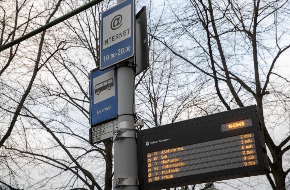 Ühistranspordipeatuste tabloo