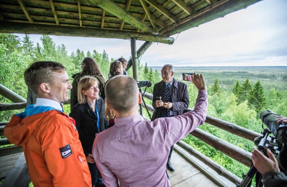 Euroopa Liidu keskkonnaministrid Paukjärve vaatetornis