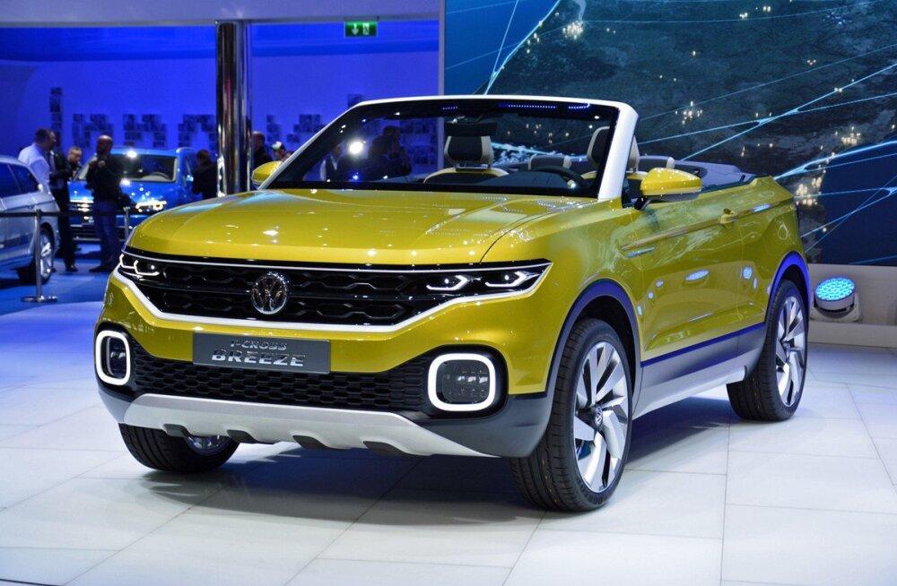 Volkswagen tõmbas Genfis katte eriskummaliselt T-Cross Breeze SUV-lt