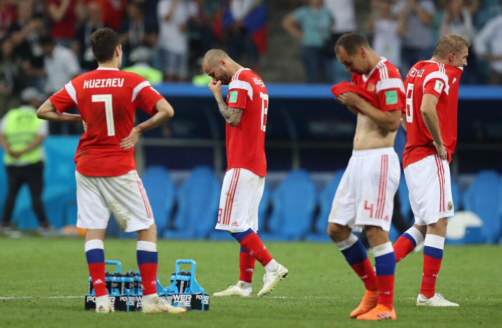 Pettunud Venemaa jalgpallurid