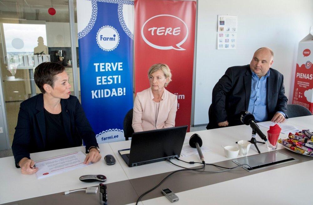 Tere nõukogu esimees Katre Kõvask (vasakul), Tere juhataja Margit Talts ja Farmi juhataja Valdis Noppel suhtusid eilsel pressikonverentsil tulevikku optimistlikult.