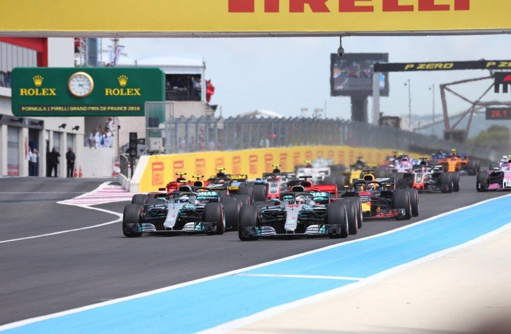 Stardisaginaga sai Prantsusmaa GP suurim intriig läbi ja Lewis Hamilton noppis kindla võidu.