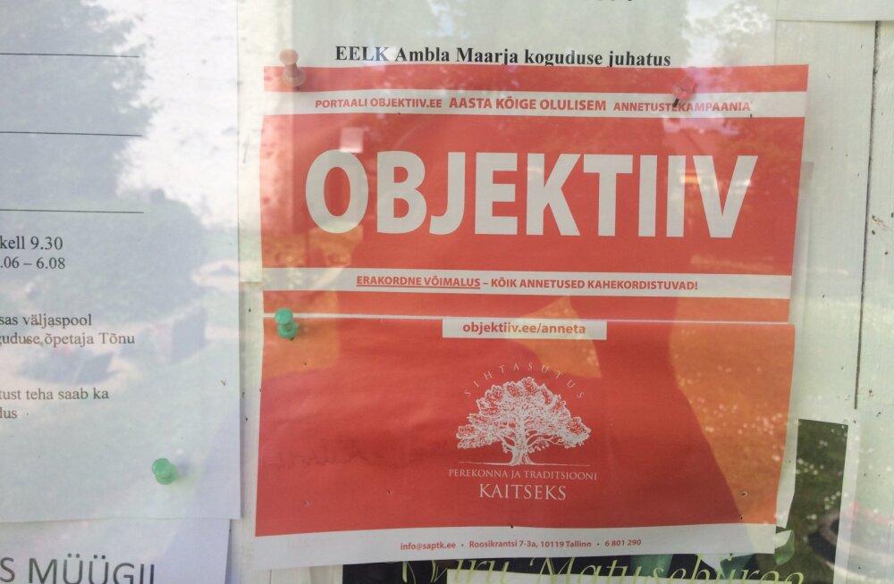 FOTO | SAPTKi portaal küsib kiriku infotahvli kaudu raha