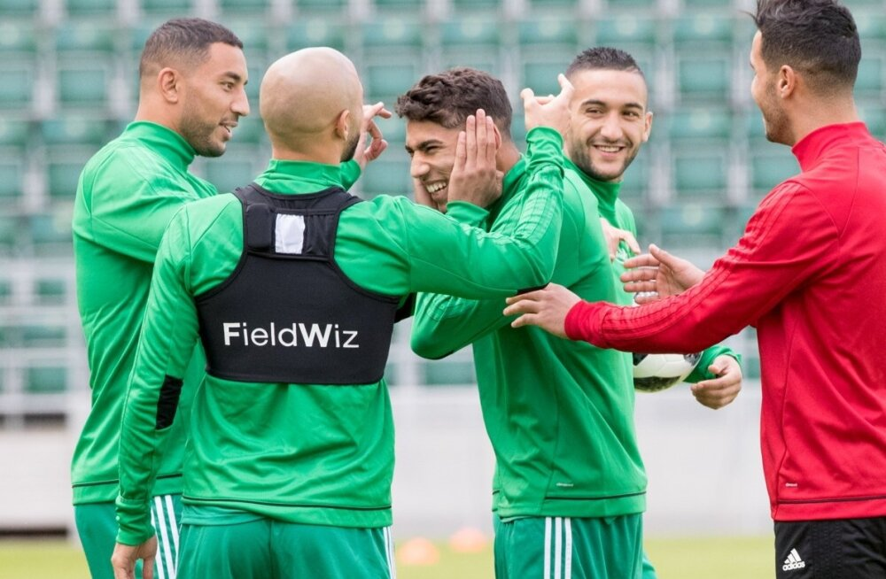 Maroko koondise treening