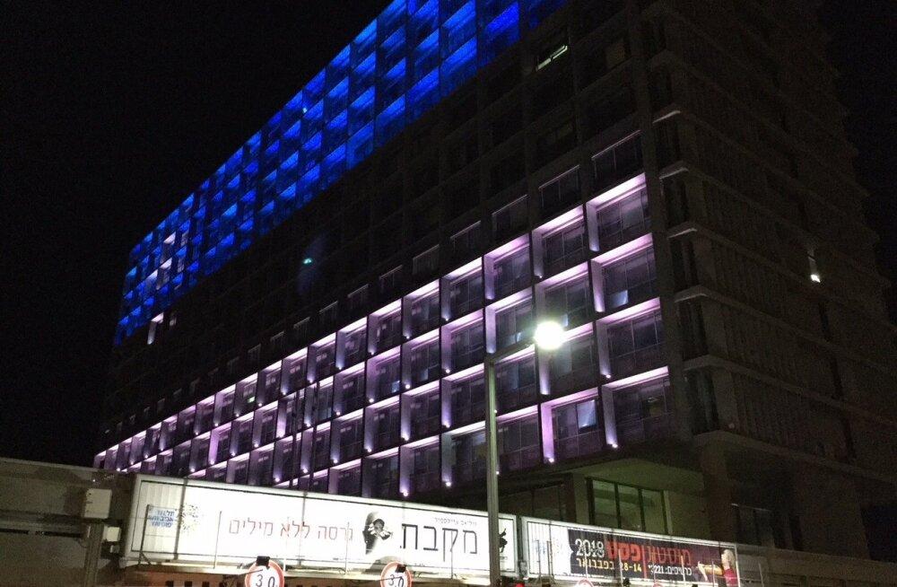 Tel Avivi linnavalitsus Eesti värvides